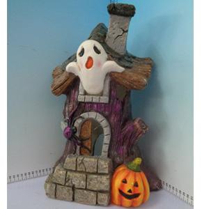 Casita de Halloween con fantasmas de 29x19x45cm