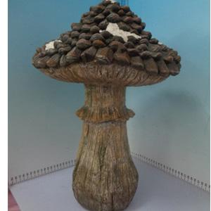 Hongo con piñas de 31x31x47cm