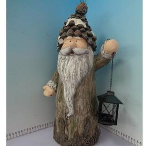 Santa con linterna de 21x17x46cm