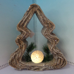 Arlbol con esfera iluminada (usa baterias triple A) de 32x10x36cm