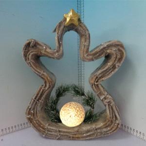 Esfera iluminada diseño silueta de muñeco de nieve (usa baterias triple A) de 26x10x36cm