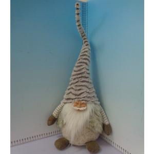 Santa con gorro gris de 23x16x62cm