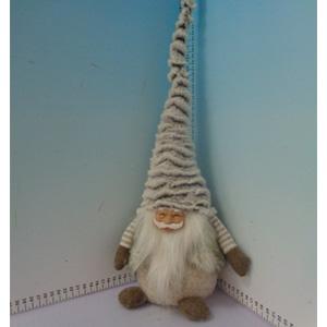 Santa con gorro gris de 20x13x50cm