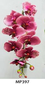 Vara de orquídeas aterciopeladas rosa de 95cm