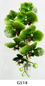 Vara de orquídeas aterciopeladas verdes de 95cm