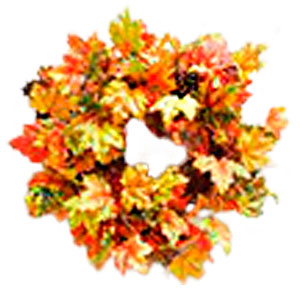 Corona de hojas de Maple otoñal de 66cm