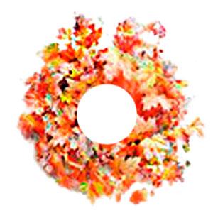 Corona de hojas de Maple otoñal c/diamantina de 66cm