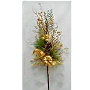 Vara de follaje dorado con Calabazas de 35cm