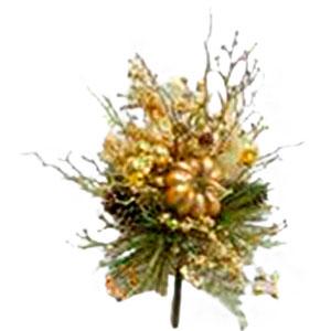 Follaje dorado con Calabazas de 19cm