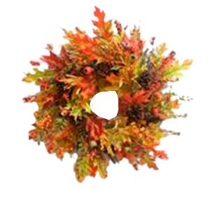 Corona de follaje otañal de 63cm