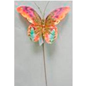 Vara con mariposa en tonos naranjas de 59cm