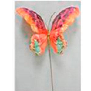 Vara con mariposa en tonos naranjas de 72cm