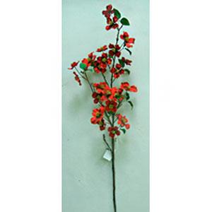 Vara de hojas rojas de 117cm