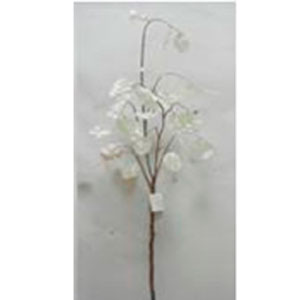 vara de hojas blancas de 127cm