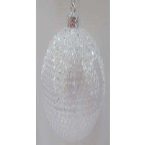 Juego de 6 esferas blancas c/diamantina de 10cm