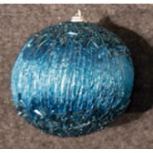 Juego de 6 esferas azules con chaquiras de 10cm