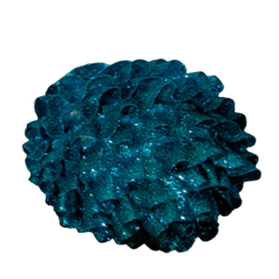 Juego de 6 esferas con holanes azules de 10cm