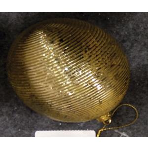 Juego de 6 esferas rayadas doradas de 10cm