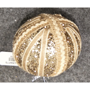 Juego de 6 esferas doradas con encaje de 10cm