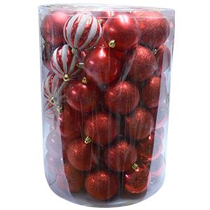 Display con 60 esferas color rojo de 8cm