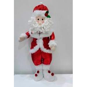 Santa de tela con traje rojo de 56cm