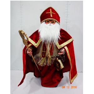 San Nicolás con traje rojo de 61cm