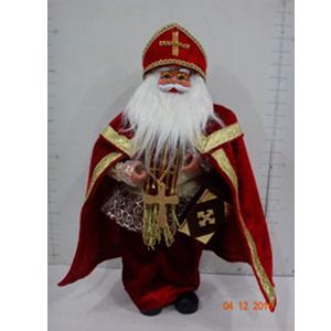 San Nicolás con traje rojo de 46cm