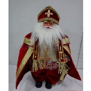 San Nicolás con traje rojo de 31cm
