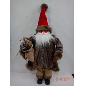 Santa con traje café de 89cm