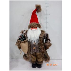 Santa con traje café de 63cm