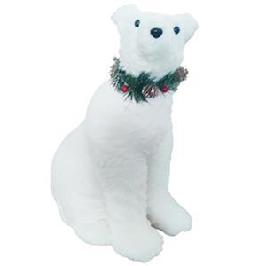 Oso polar de peluche sentado de 37x27x50cm