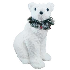 Oso polar de peluche sentado de 31x21x40cm