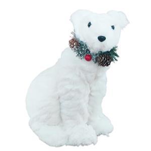 Oso polar de peluche sentado de 22x18x28cm
