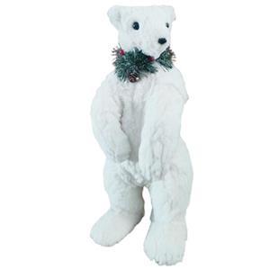 Oso polar de peluche parado de 21x23x51cm