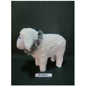 Borrego de peluche blanco de 35x18x29cm