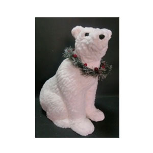 Oso polar de peluche sentado de 90cm