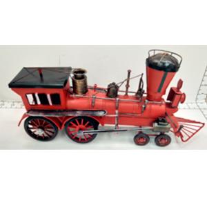 Locomotora roja de metal de 36x10x16cm