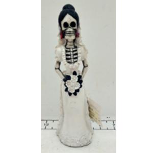 Esqueleto con traje de novia de 6x5x20cm