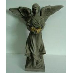 Angel parado terminado granito de 42x19x50cm
