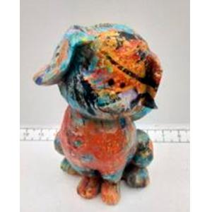 Perrito a colores de 13x13x23cm