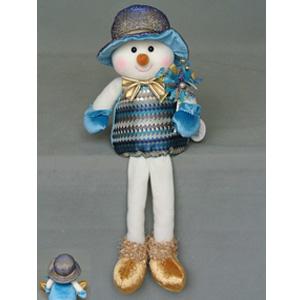 Muñeco de nieve con patitas colgantes de  36x18x8cm