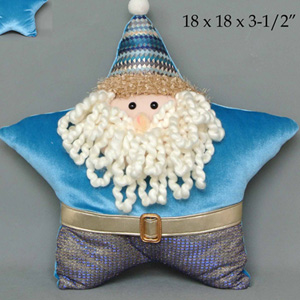 Santa diseño estrella azul de 46x46x8cm