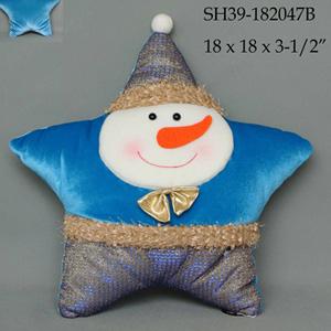 Muñeco de Nieve diseño estrella azul de  38x33x10cm