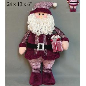 Santa con traje vino de  33x18x5cm