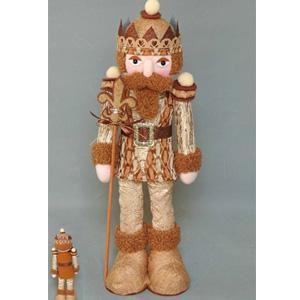 Soldado con traje color cobre de  51x18x10cm