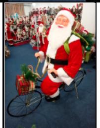 Santa montado en bicicleta de 1.50m