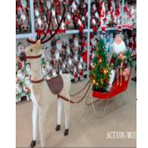 Santa con trineo y r
