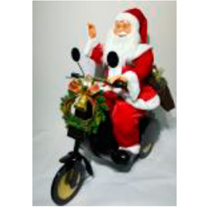 Santa en moto con mo