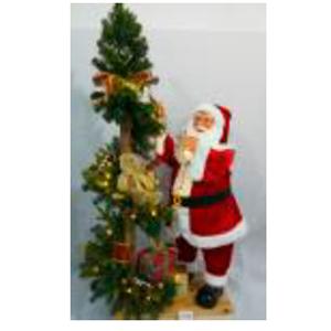 Santa y árbol con lu