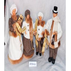 Coro de 4 personas vestidos de beige con blanco  de 68cm